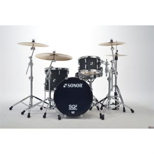SONOR VINTAGE 3PC SHELL PACK 20-12-14 NM NOIR SLATE w /  FREE SNARE