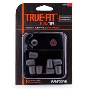 WESTONE EMBOUT POUR IN-EAR RED WES-62802 10 TIPS
