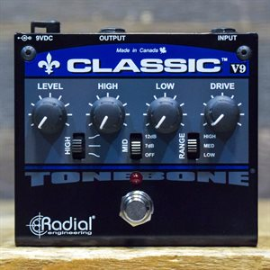 RADIAL ENGINEERING TONEBONE CLASSIC V9 SOLID-STATE DISTORTION W / BOX #715940
