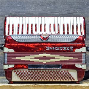 MARRAZZA ACCORDION 120-BASS 41-KEY 5-TREBLE SWITCHES RED AVEC ÉTUI RIGIDE #1029