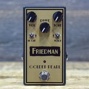 FRIEDMAN GOLDEN PEARL TRI-MODE VOICE TRANSPARENT OVERDRIVE EFFECT PEDAL W / BOX #3611018118