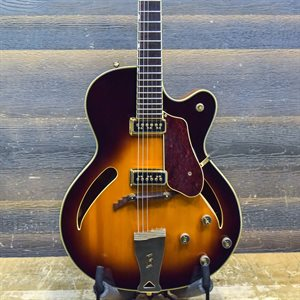 GRETSCH G3110 HISTORIC SERIES ARCHTOP TOBACCO SUNBURST 1991 W / CASE #9109043