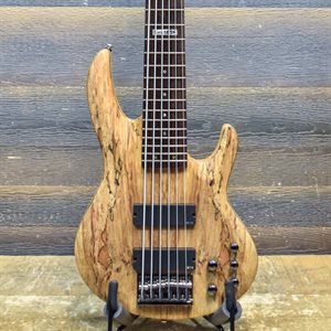 LTD B-416SM SPALTED MAPLE TOP 6-STRING NATURAL SATIN #IW11050959