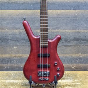 WARWICK PRO SERIES CORVETTE STANDARD 4-STRING ACTIVE BURGUNDY RED AVEC ÉTUI SOUPLE #GPS-C-000425-15