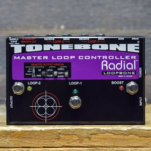 RADIAL ENGINEERING TONEBONE LOOPBONE EFFECTS LOOP CONTROLLER R800 7078 W / BOX #137605
