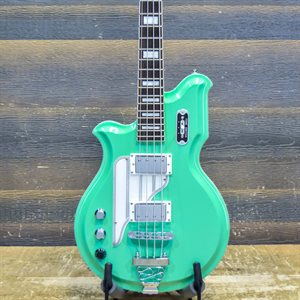 EASTWOOD AIRLINE MAP BASS SEAFOAM GREEN LEFT-HANDED 4-STRING AVEC ÉTUI SOUPLE #1000452