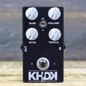 KHDK ELECTRONICS NO.1 (VERSION 1) KIRK HAMMETT OVERDRIVE EFFECT PEDAL W / BOX #049720