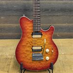 MUSIC MAN AXIS SUPER SPORT HH TREM BINT CHERRY BURST