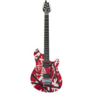 EVH WOLFGANG SPECIAL STRIPED RED & BLACK & WHITE