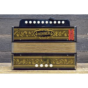 HOHNER VIENNA 1140 POKER WORK 1-ROW 4-BASS 10-TREBLE KEY OF C