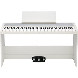 KORG STAGE PIANO B2SPWH WITH STAND AND PEDAL, WHITE