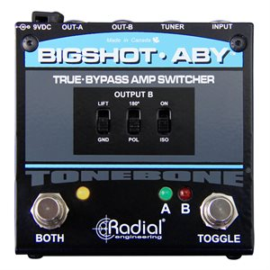 RADIAL ENGINEERING TONEBONE BIGSHOT ABY TRUE-BYPASS SWITCHER R800 7210 00