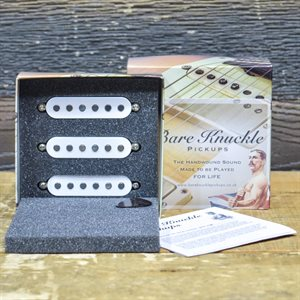 BARE KNUCKLE PICKUPS THE SINNER SET FLAT POLE, WHITE STOCK POLARITY
