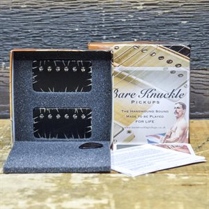 BARE KNUCKLE PAINKILLER HUMBUCKER SET 6-STRING STANDARD SPACING BLACK BATTLEWORN