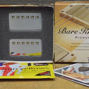 BARE KNUCKLE PICKUPS NAILBOMB SET 50MM NICKEL ALNICO V BRIDGE