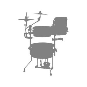 TAMA CJP44C-HLB COCKTAIL-JAM MINI 4PCS HAIRLINE BLUE