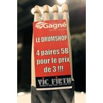 VIC FIRTH PACK 4 X 5B WOOD MUSIQUE GAGNE