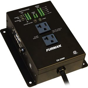 FURMAN CN-20MP CONTRACTOR SERIES 20A REMOTE DUPLEX, EVS, SMART SEQUENCING, 10-FT CORD
