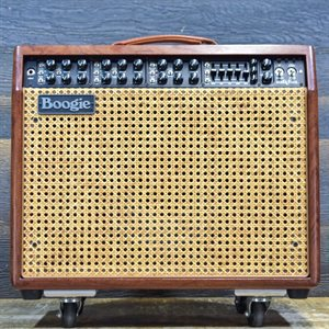 MESA BOOGIE MARK V CUSTOM 90-WATT 1X12 BUBINGA AVEC WICKER GRILLE ET FOOTSWITCH #MKV-005692