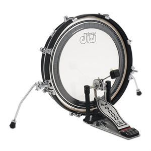 DW DDBD0320BLCR PANCAKE 3X20 BASS DRUM W / HOOP CLAMP SPURS