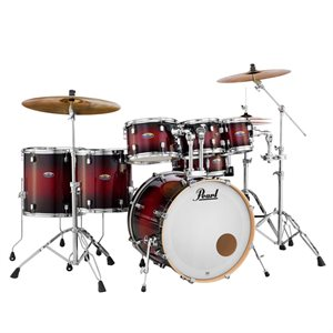 PEARL DECADE MAPLE GLOSS DEEP RED BURST 7PCS 2218B 0807T 1007T 1208T 1414F 1616F 1455S