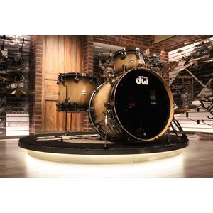 DW COLLECTOR EXOTIC 4PCS CANDY BLACK BURST CURLY MAPLE (18X22 / 14X16 / 9X12 / 8X10)