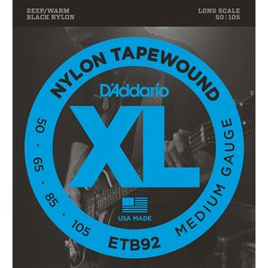 D'ADDARIO ETB92 NYLON TAPE WOUND 50-105