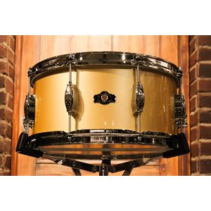 GEORGE WAY STUDIO 7X14 GLOSS GOLD SNARE DRUM