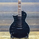 ESP LTD EC-1000 EC SERIES PIEZO LEFT-HANDED SEE THRU BLACK ELECTRIC GUITAR #IW18041184