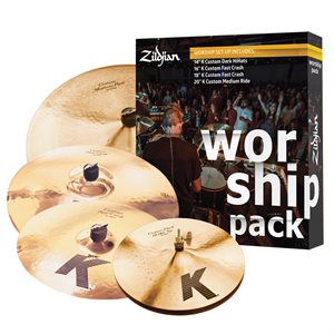 ZILDJIAN PACK K CUSTOM WORSHIP KC0801W