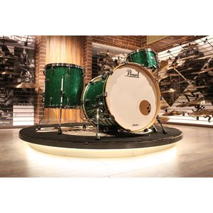 PEARL MASTERS COMPLETE 3-PIECE GREEN GLASS DRUM SET (22X16, 12X08, 16X16) – DÉMONSTRATEUR