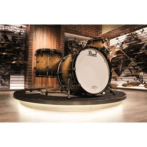 PEARL MASTERWORKS 3-PIECE NATURAL TO BLACK BURST TAMO DRUM SET