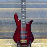 SPECTOR EURO5 LT BARTOLINI PICKUPS RED FADE 5-STRING W / BAG #NB15589