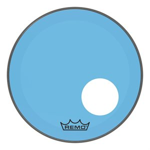 REMO P3 COLORTONE BLUE BASS OFFSET HOLE 18 P3-1318-CT-BUOH