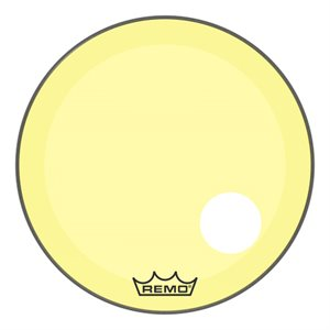REMO P3 COLORTONE YELLOW BASS OFFSET HOLE 24 P3-1324-CT-YEOH