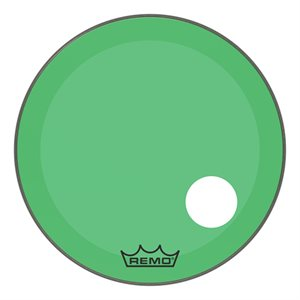 REMO P3 COLORTONE GREEN BASS OFFSET HOLE 26 P3-1326-CT-GNOH