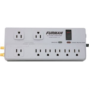 FURMAN PST-2+6 15A 8 OUTLET SURGE SUPPRESSOR STRIP