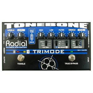 RADIAL ENGINEERING TONEBONE TRIMODE TUBE DISTORTION PEDAL R800 7015 00
