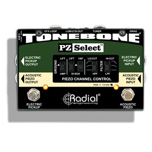 RADIAL ENGINEERING TONEBONE PZ-SELECT TWO CHANNEL INSTRUMENT SWITCHER R800 7208