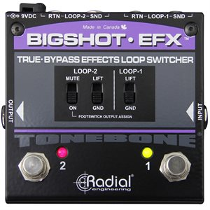 RADIAL ENGINEERING TONEBONE BIGSHOT EFX EFFECTS LOOP SWITCHER R800 7214 00