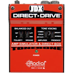RADIAL ENGINEERING TONEBONE JDX DIRECT-DRIVE AMP SIMULATOR & DI BOX R800 1404 00