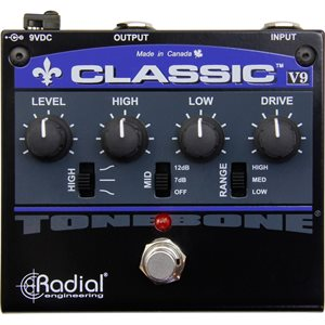 RADIAL ENGINEERING TONEBONE CLASSIC-V9 DISTORTION PEDAL R800 7011 00