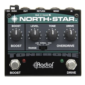 RADIAL ENGINEERING TONEBONE NORTH-STAR OVERDRIVE AND POWER BOOSTER R800 7017 00