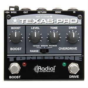 RADIAL ENGINEERING TONEBONE TEXAS-PRO OVERDRIVE AND BOOST PEDAL R800 7027 00