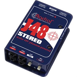 RADIAL ENGINEERING J48 STEREO PREMIUM STEREO ACTIVE DI R800 3002 00