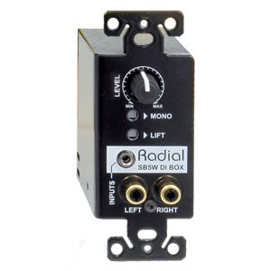 RADIAL ENGINEERING STAGEBUG SB-5W WALL-MOUNT STEREO DIRECT BOX R800 0155 00