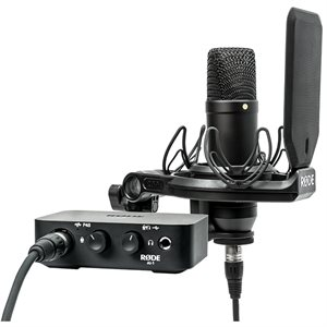 RODE AI-1 KIT COMPLETE STUDIO KIT WITH AUDIO INTERFACE, NT1 MICROPHONE, SHOCK MOUNT AND CABLES