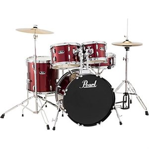 PEARL ROADSHOW 5PCE C91 RED WINE W / CYMBALS AND HARDWARE