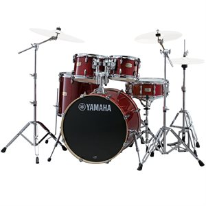 YAMAHA STAGE CUSTOM CRANBERRY RED 5PCS WITH HARDWARE