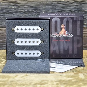 BARE KNUCKLE BOOT CAMP OLD GUARD STRAT COILS SET 6-STRING RWRP WHITE COVERS #STRSOG-WHI